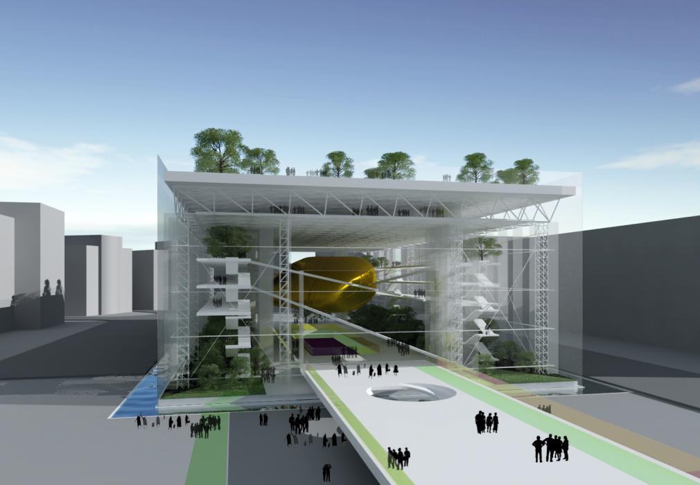 Многофункциональный информационный центр международного уровня (фанзона 2012) Площадь Независимости г. Киев - 1
