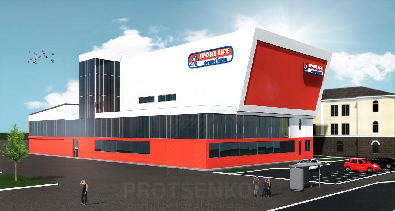 Реконструкция здания столовой под спортивно-оздоровительный комплекс «Sport Life» с достройкой бассейной зоны - 2