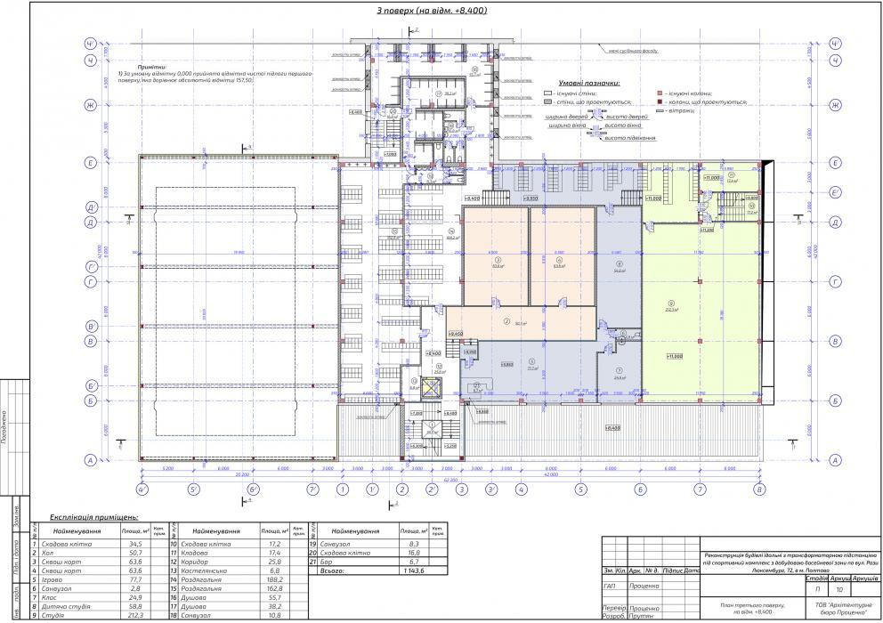 Реконструкция здания столовой под спортивно-оздоровительный комплекс «Sport Life» с достройкой бассейной зоны - 4