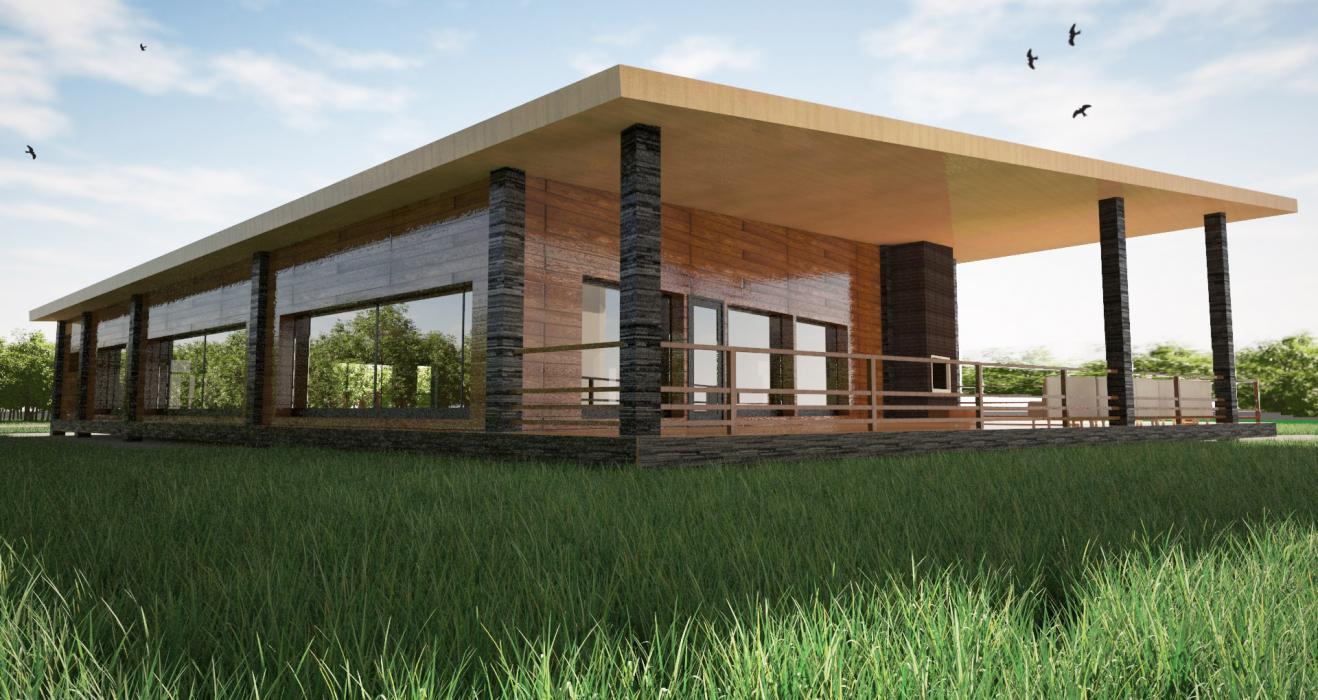 Проект домика для бассейна, США - 5