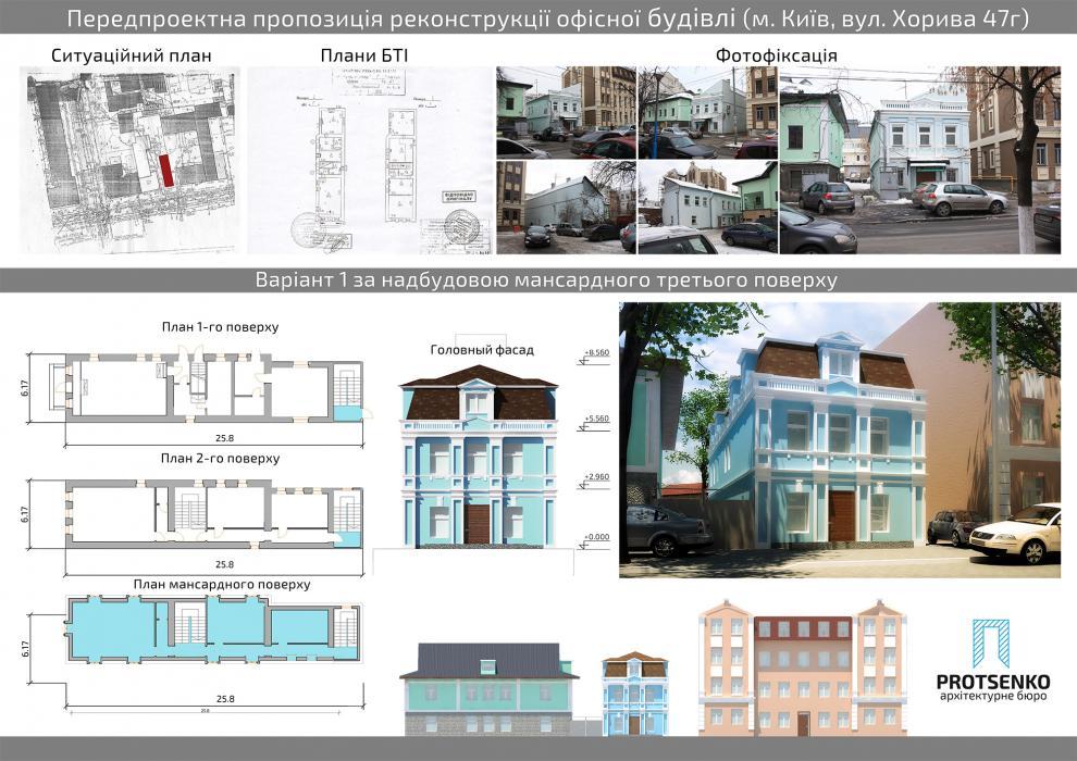 Предложение по реконструкции офисного здания по адресу ул.Хорива, 47-г - 1