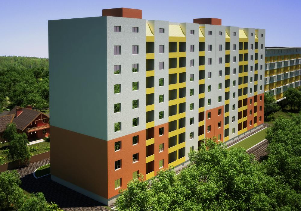 8-ми этажный жилой дом, с. Софиевская Борщаговка - 2