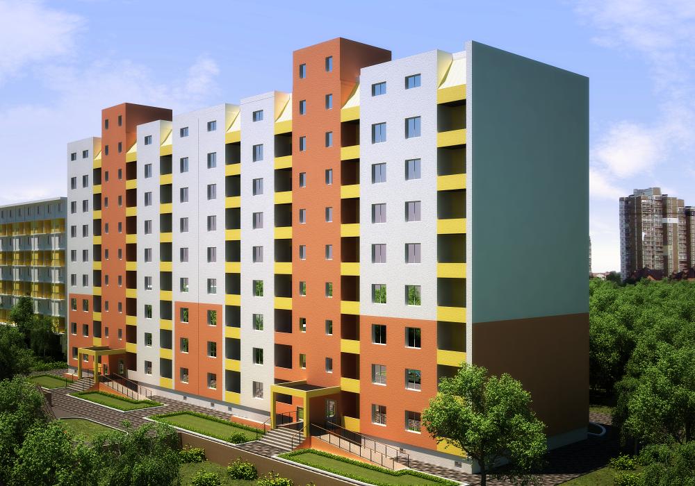 8-ми этажный жилой дом, с. Софиевская Борщаговка - 1