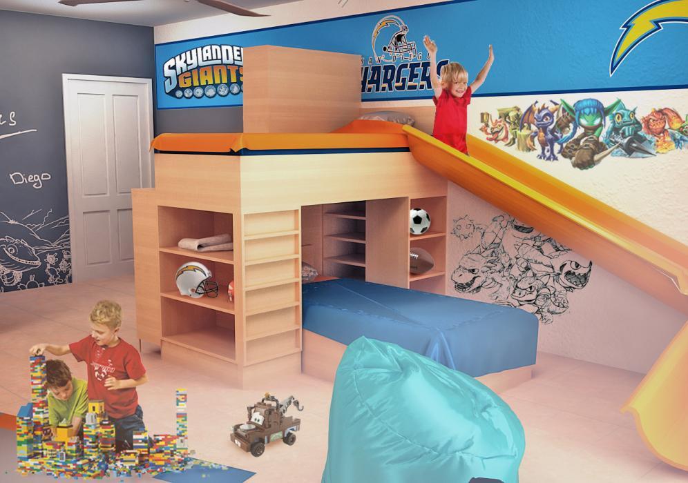 Интерьер детской комнаты для мальчиков, США - 4