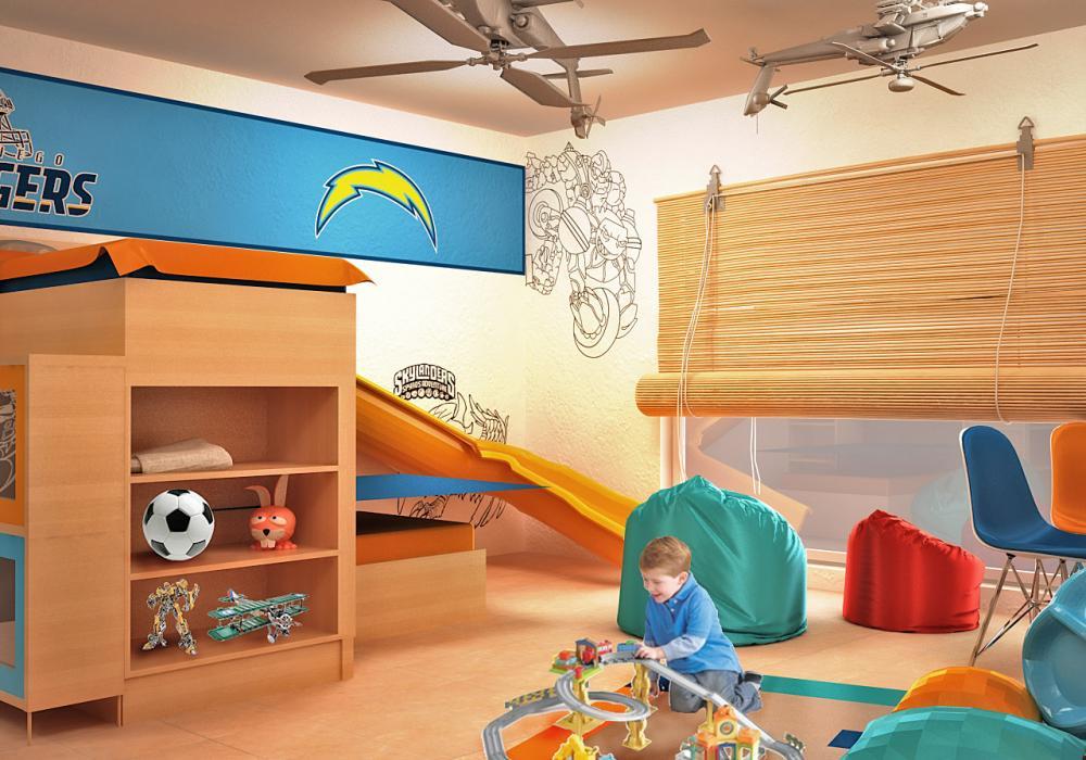 Интерьер детской комнаты для мальчиков, США - 5
