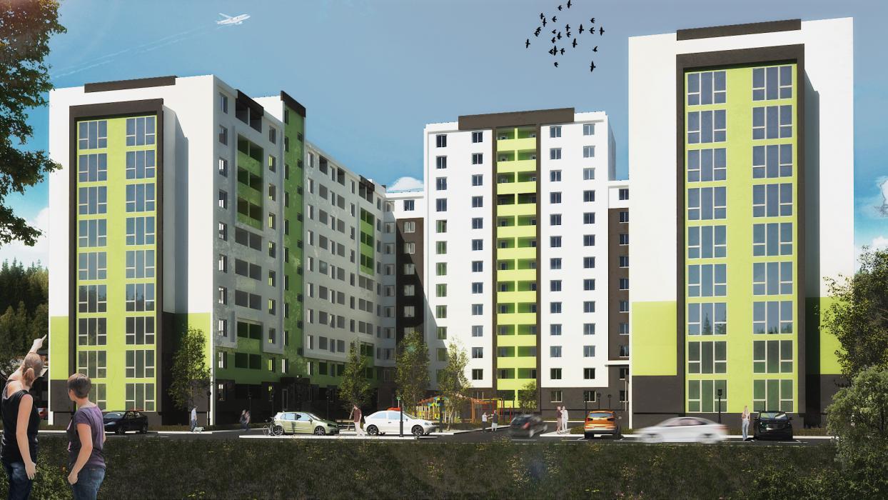 Проект жилого комплекса на 5 секций, г. Львов - 2