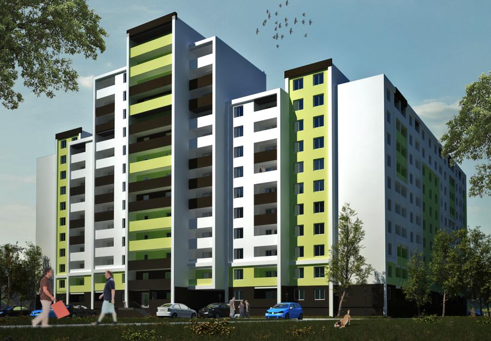 Проект жилого комплекса на 5 секций, г. Львов - 1
