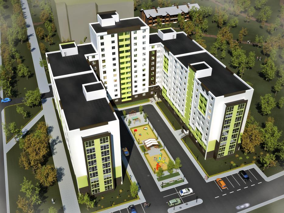 Проект жилого комплекса на 5 секций, г. Львов - 3