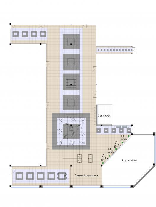 Интерьер общественной зоны торгового центра, г. Черкасы - 3