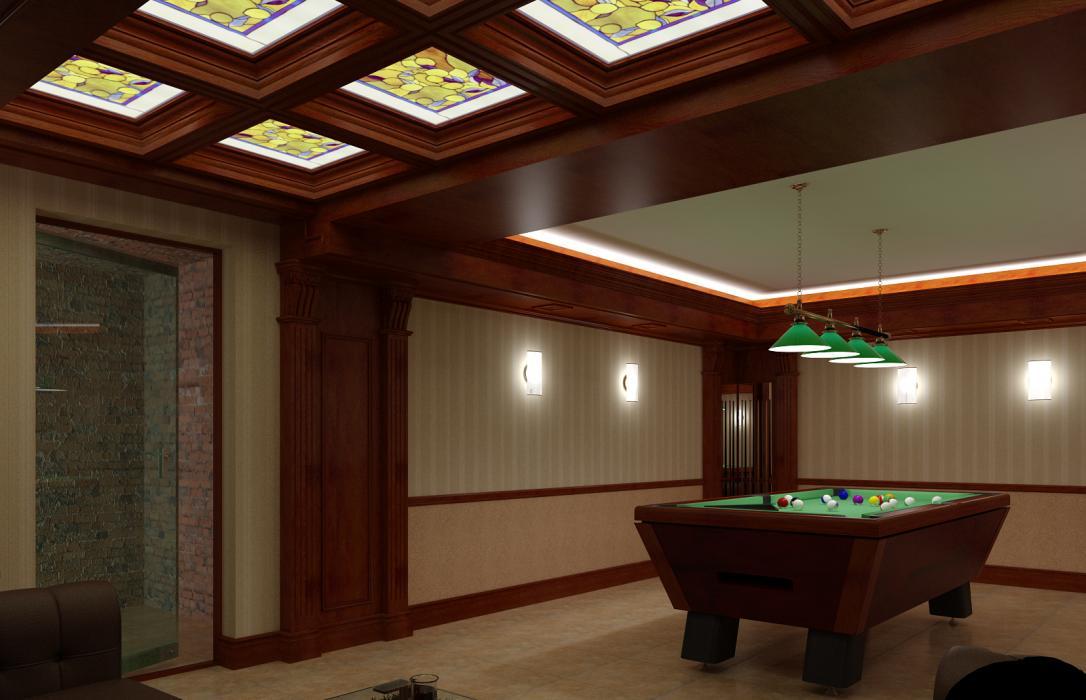 Дизайн-проект бильярдного зала коттеджа, с. Горенычи, Киево-Святошинского р-на - 3
