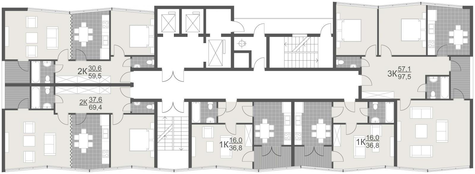Высотный жилой дом, ул. Товарная, г. Киев - 5