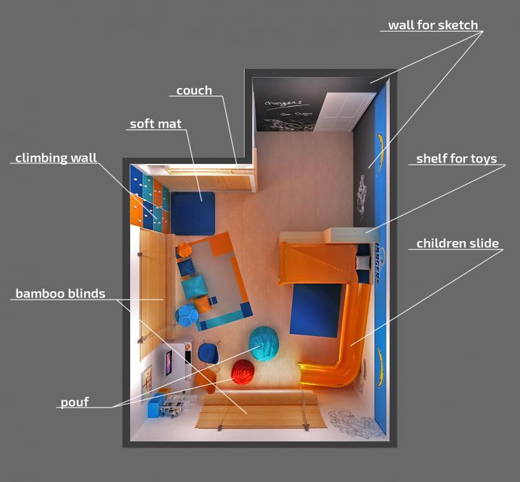 Интерьер детской комнаты для мальчиков, США - 2