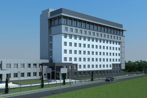 Проект админостративного здания по пр.Тычины 26 г, г.Киев - 1