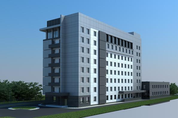 Проект админостративного здания по пр.Тычины 26 г, г.Киев - 2